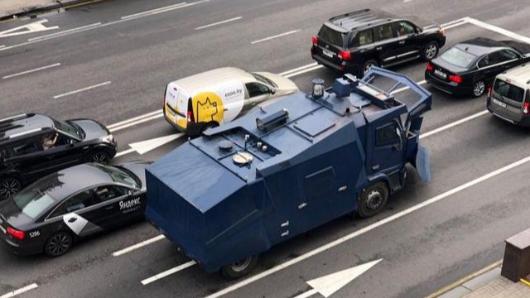 Центр Минска перекрыт силовиками