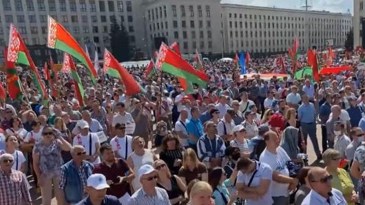 ВМинске проходит митинг вподдержку Лукашенко