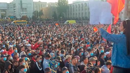 Майдан вКиргизии: встране проходят масштабные акции протеста